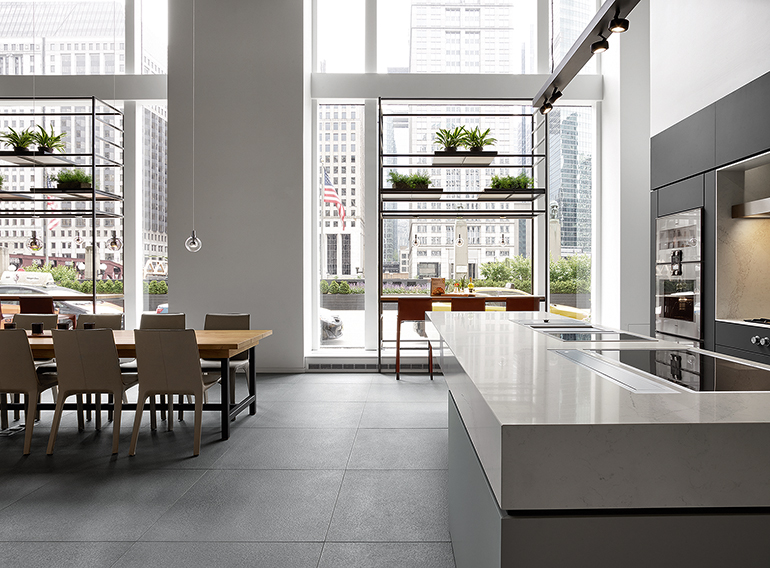 Floor To Ceiling Windows Provide Natural Light And Views Of The Chicago River Image Courtesy Gaggenau