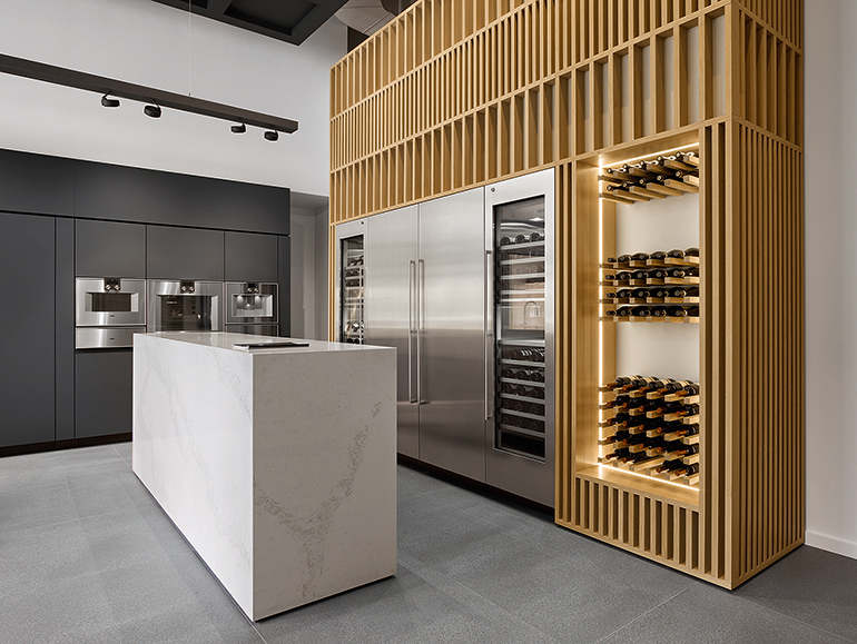 The Showroom Also Features Wine Storage Image Courtesy Of Gaggenau