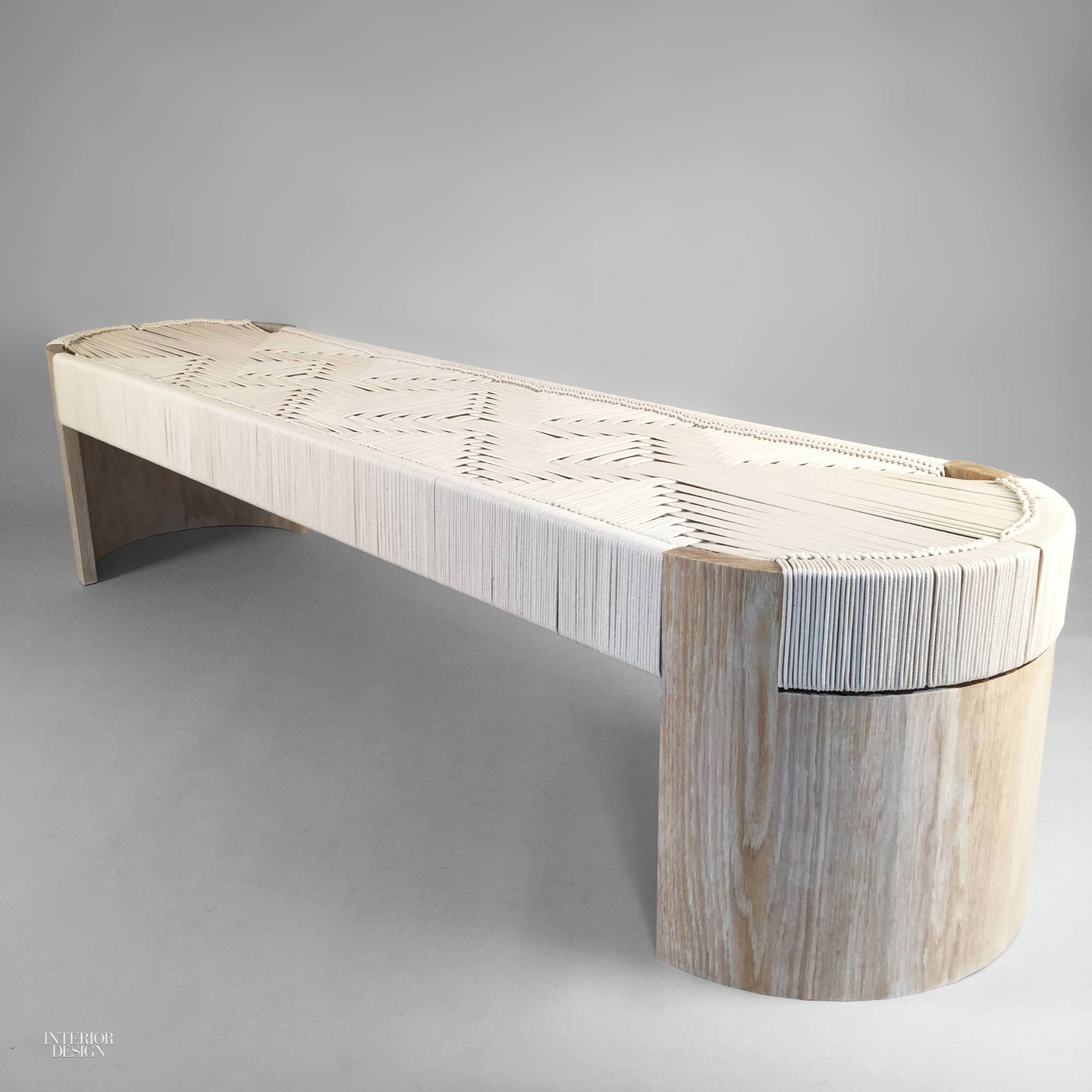 Kate Caseyu0027s Euclid Bench In White Oak With Cotton Cord Seat By Peg  Woodworking.
