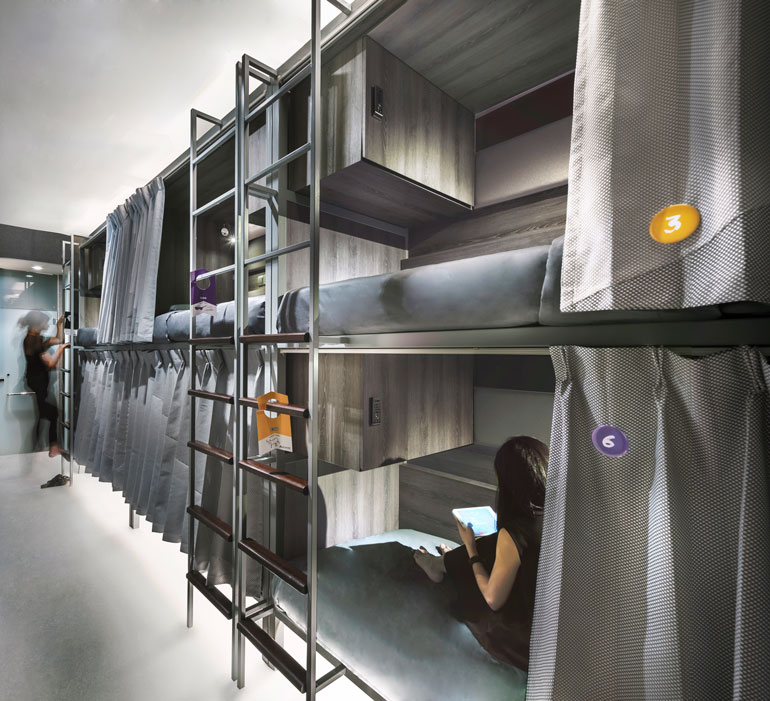 Digital savvy hostel coo opens in singapore for Hostel design