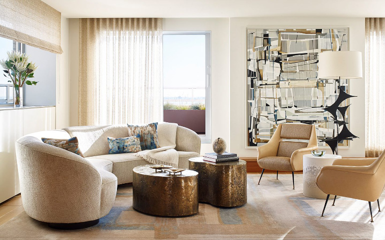 fabric interiors top ny interior designers East End Avenue Residence. Photography by Thomas Loof.