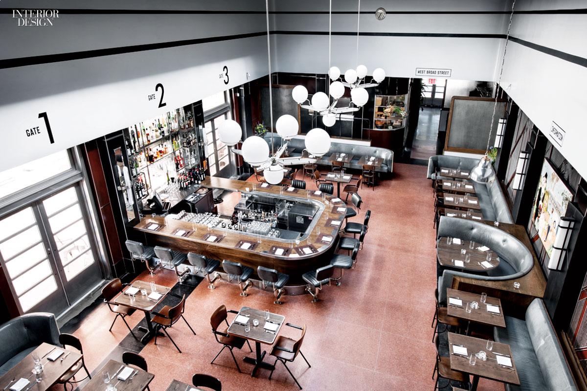 Southern Belle Parts And Labor Designs The Grey Restaurant In Savannah Ga Interior Design Magazine