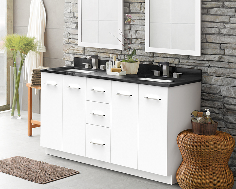arden is enhanced with modern features including softclose wood doors and an optional drawer organizer the vanity was recently selected as a recipient - Ronbow Vanities