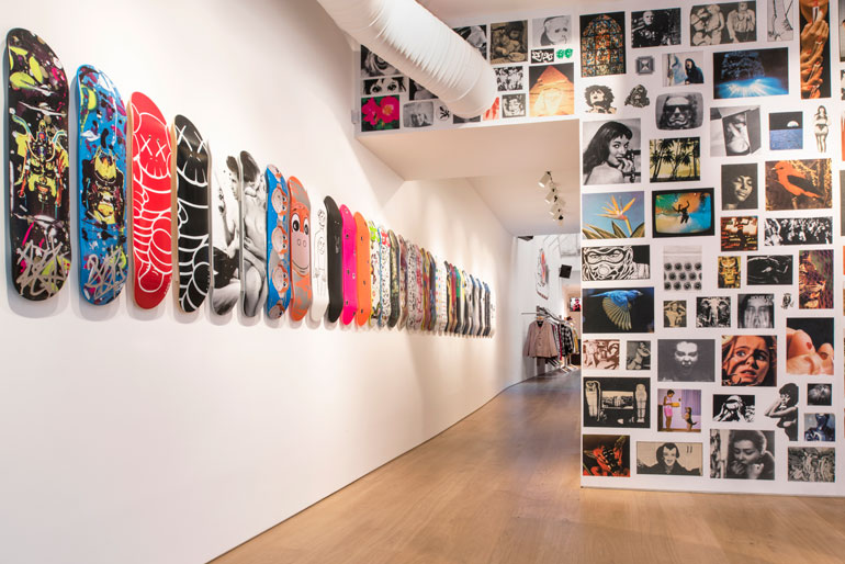 556eaf93f1c1 Confident and unorthodox is how design firm Brinkworth describes the latest  outpost of cult streetwear label Supreme. Recently opened in Paris  Le  Marais ...