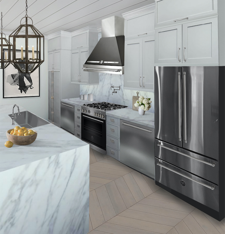 Two Designers Dream Up Elegant Bertazzoni Kitchens