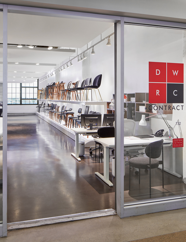 Entrance Of The New DWRC Showroom In The Boston Design Center. Photography  By Jared Kuzia.