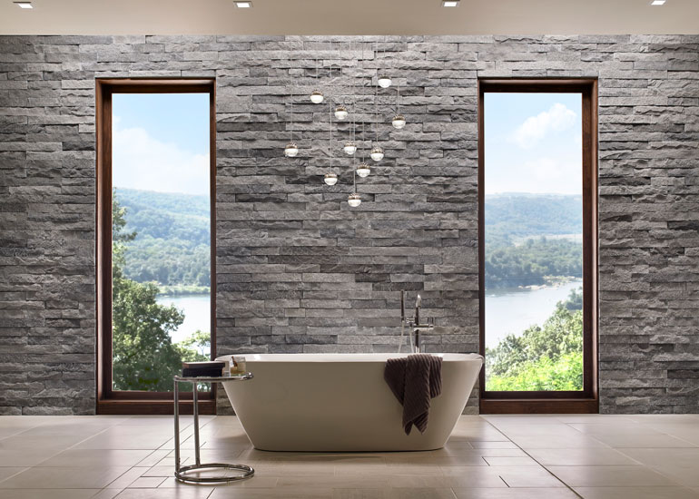 Eldorado Stone's Modern Collection Brings A Warm Interior Design