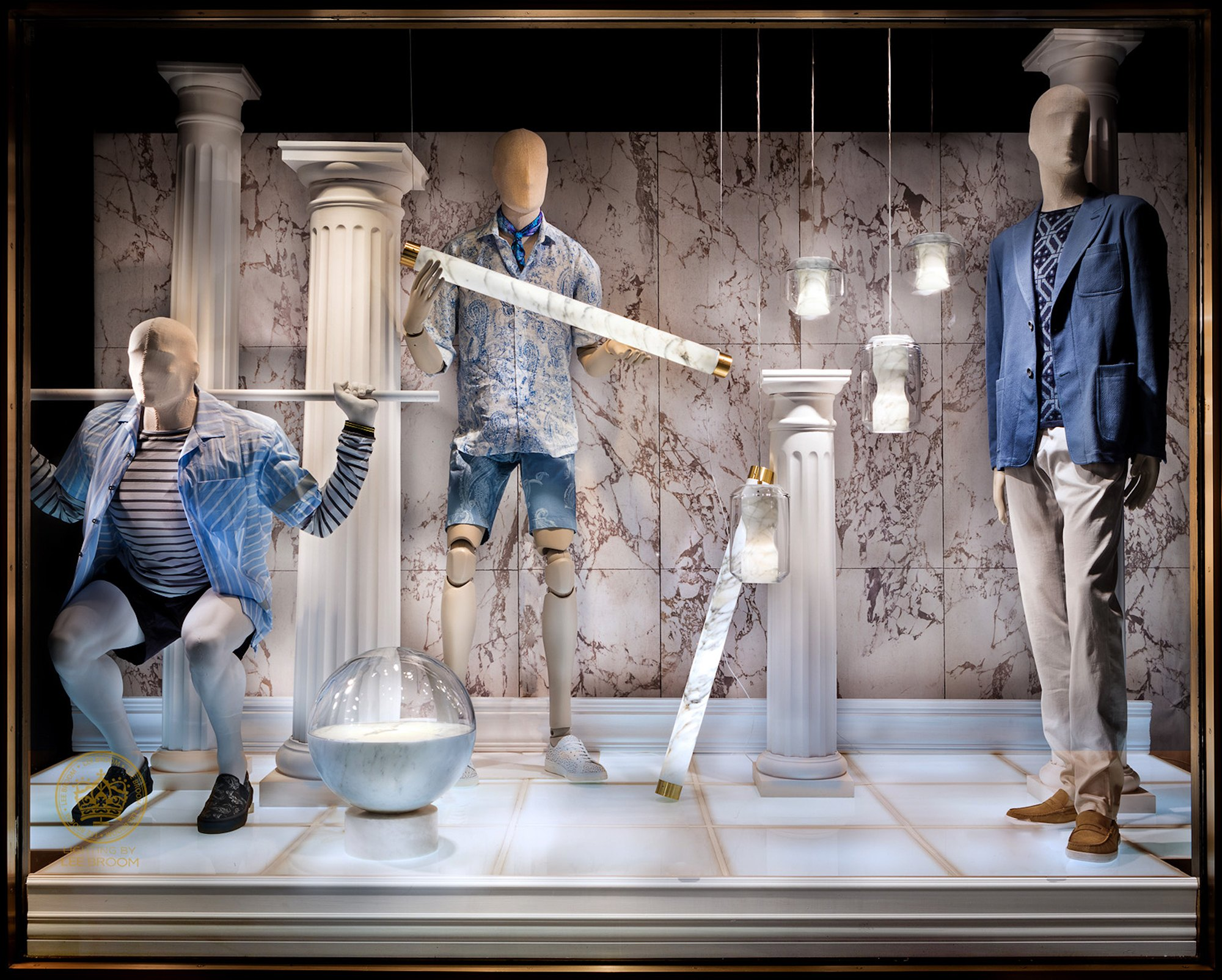 Lee Broom Illuminates Bergdorf Goodman S Menswear Windows