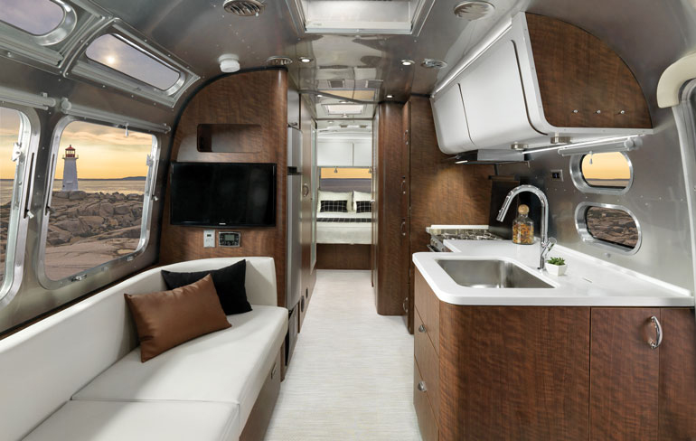 Airstream Collaborates With Astheimer Limited On The Globetrotter Best Airstream Interior Design