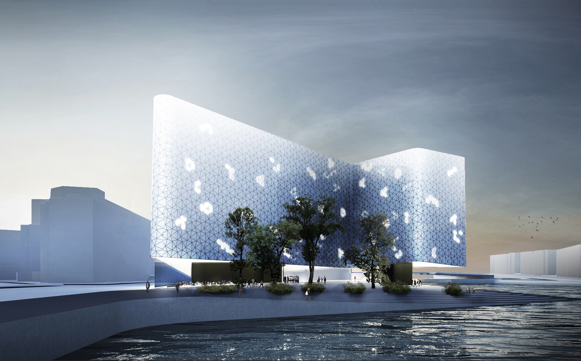 Sn hetta to design helsinki hotel inspired by shattered ice for Design hotel helsinki