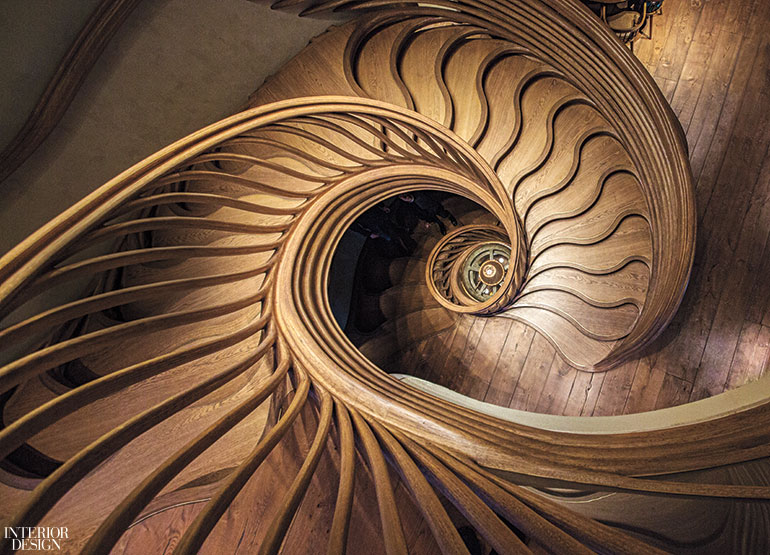 winding three story staircase by atmos tops the menu at london