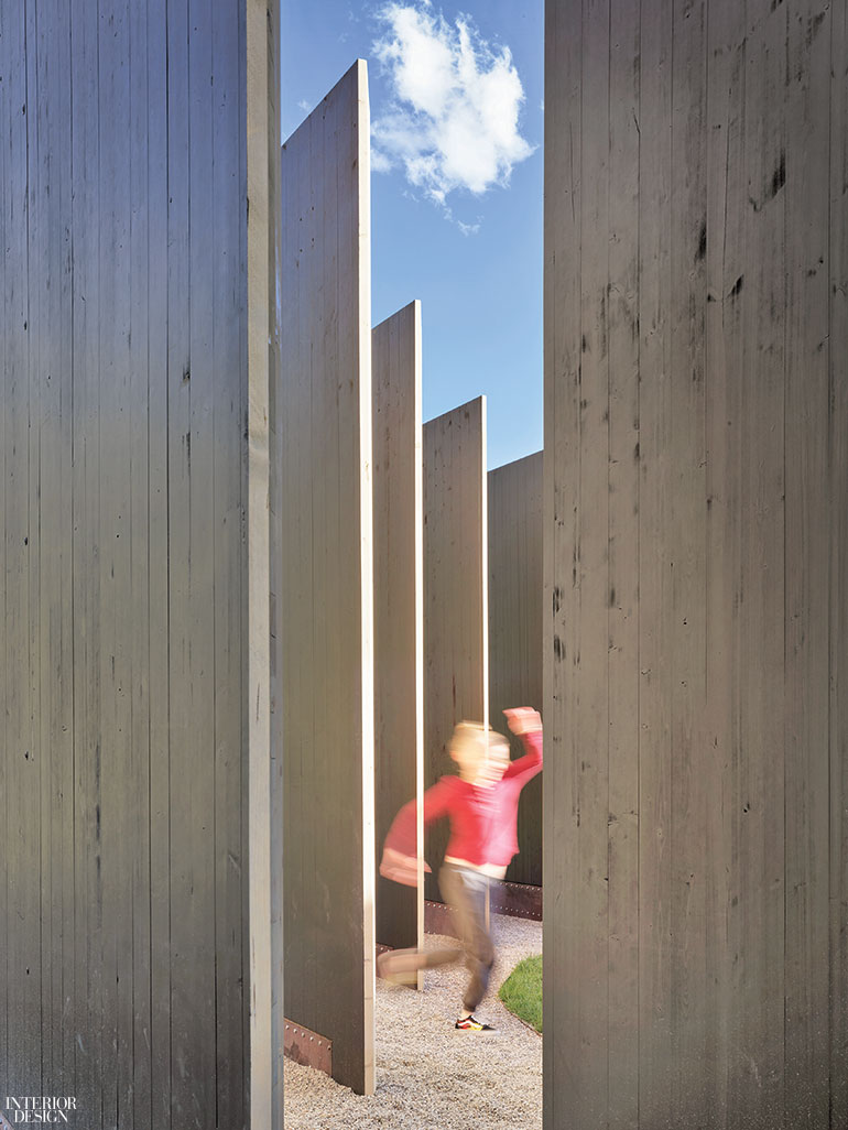 A steel foundation anchors 22 panels of graded spruce-pine-fir. Photography by Matthew Millman. & Carney Logan Burke Architects Creates an Artful Community Hub in ...