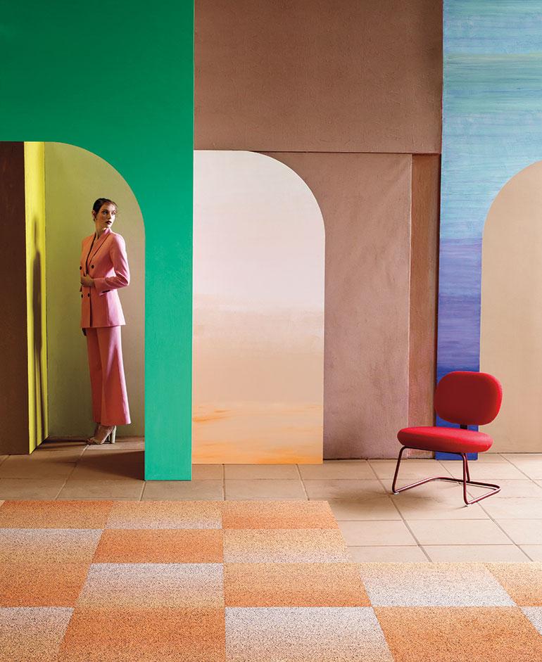 Shaw Contract Creates Ombré Wonder for Gradation Tile Carpet