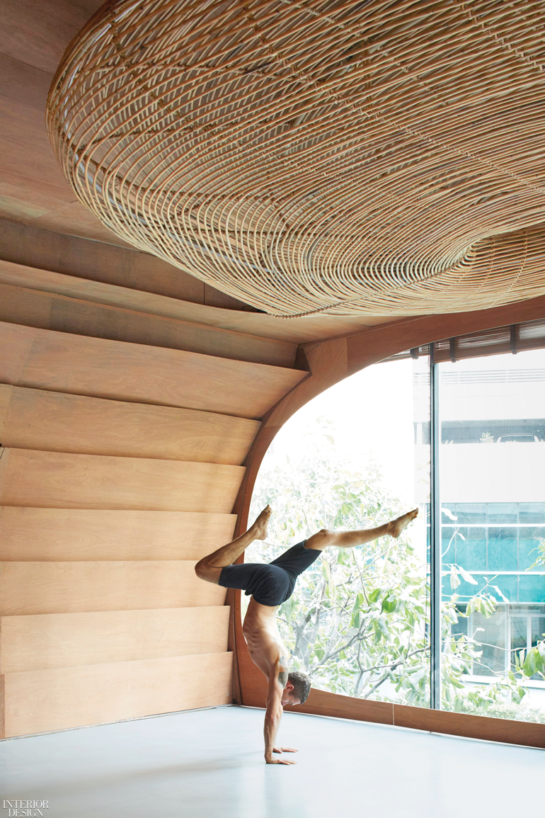 Rattan Offers A Meditative Focal Point In Bangkok Yoga Studio By Enter Projects Asia Interior Design Magazine
