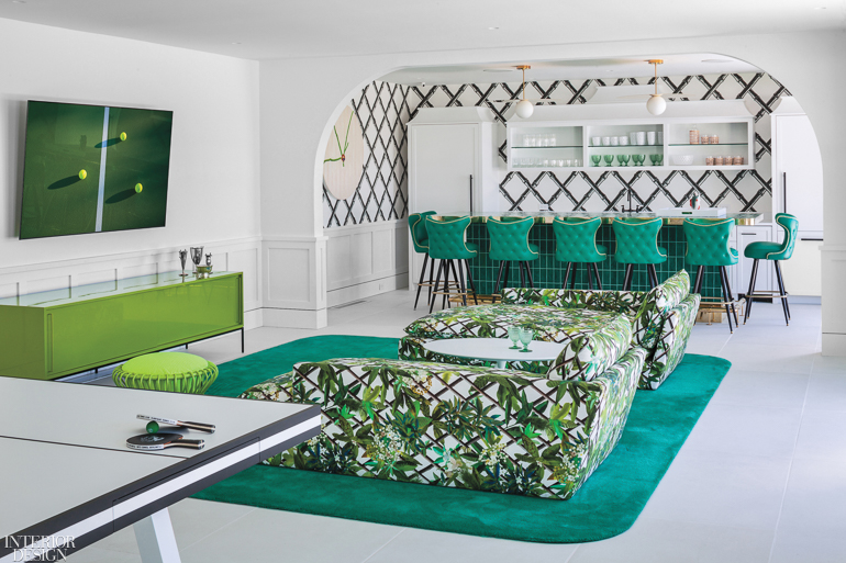 Ghislaine Vinas Balances Country Club And Kitsch For Floritauk Tennis Club Interior Design Magazine