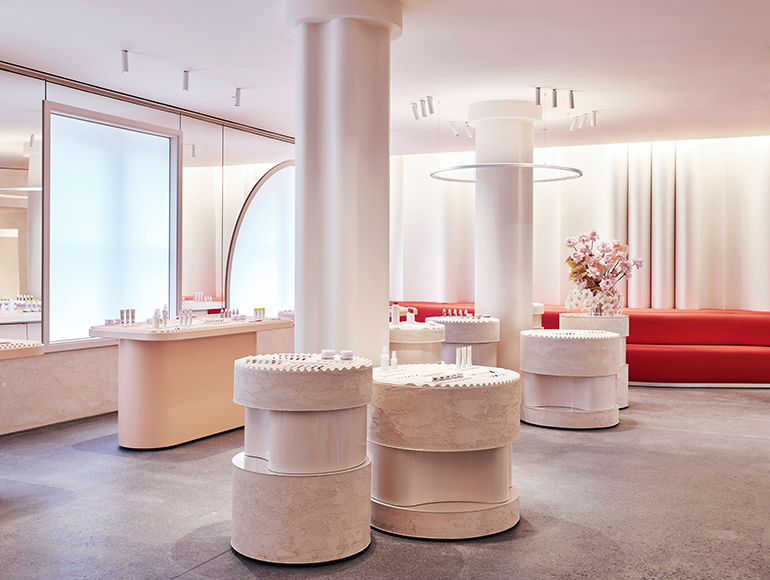Pretty in Pink: Gachot Studios Revamps Glossier's NYC
