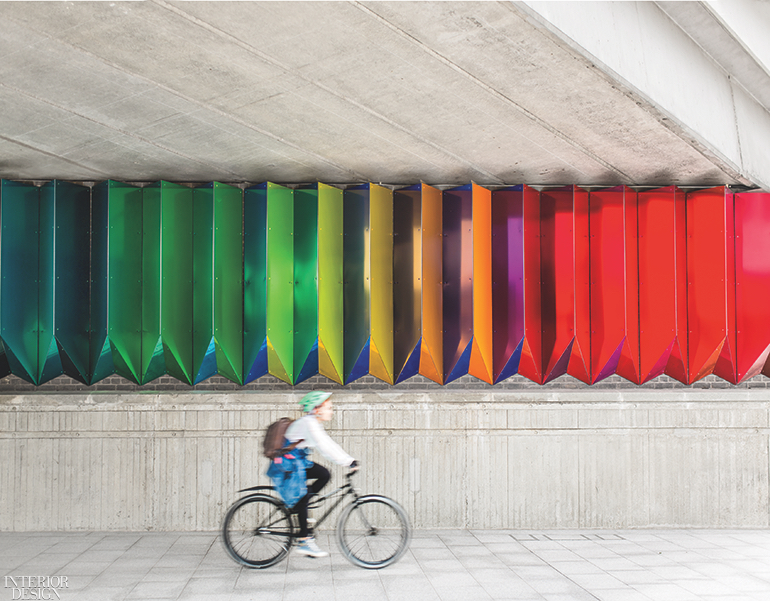 Liz West's Colour Transfer Installation Creates a Prism Wall