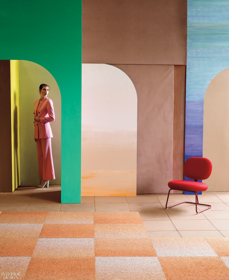 Shaw Contract Creates Ombré Wonder for Gradation Tile Carpet