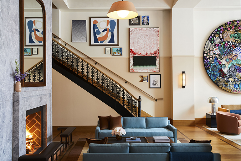 Charmant The Living Room, With Interior Design By Gachot Studios, Is Detroit Inspired.  Photography By Nicole Franzen.