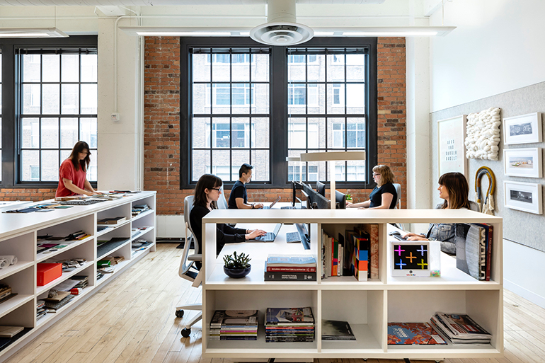 Watsonu0027s Tonic Benching And Acuity Task Chairs By Allsteel Furnish The Open  Office; The Lighting Is By Watson Lighting. Photograph By Jessica Stoe ...