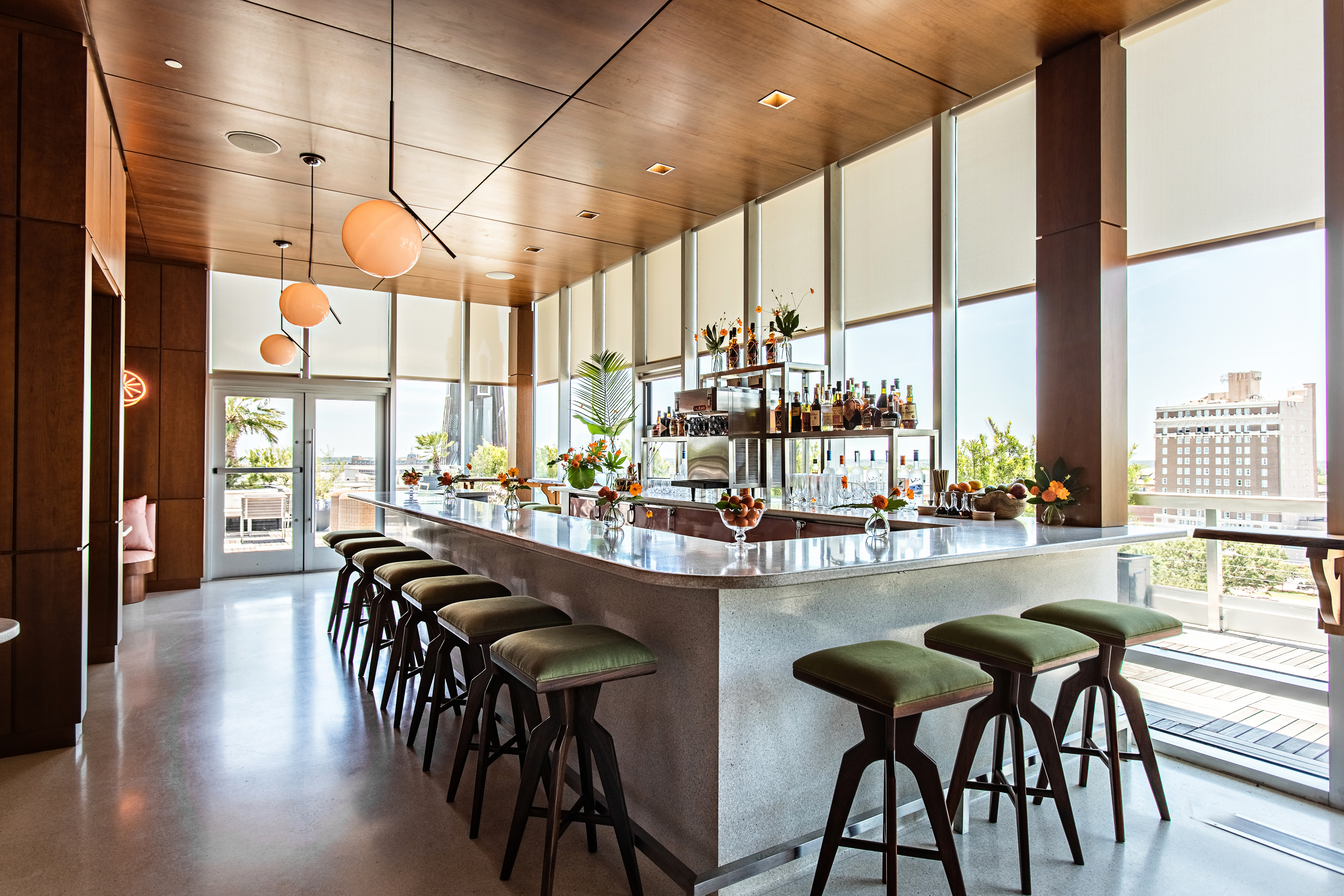 Workstead S Citrus Club At The Dewberry Takes Mid Century Modern
