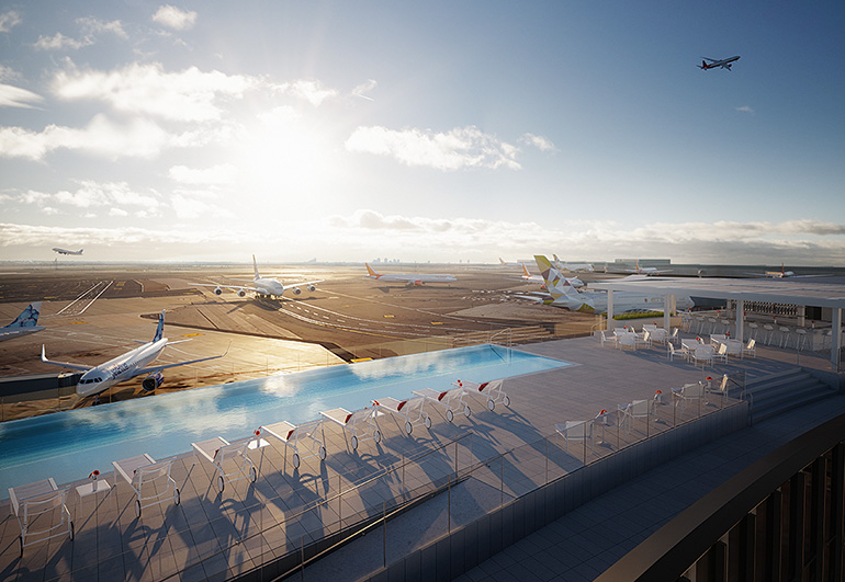 Rooftop Bars Lounge Poolside At The Just Opened Twa Hotel S