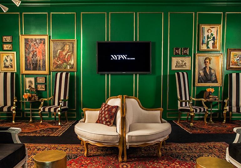ken fulk designs opulent lounges for new york fashion week