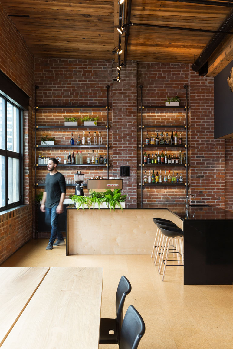 Shelving In The Bar Area Is Steel And Cast Iron Piping. Photography By Ema  Peter.