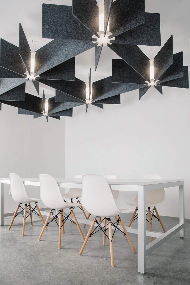 Acoustic Light Fixtures : Lightart s new collection seamlessly blends light and