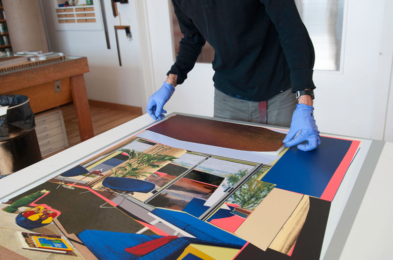 Collage Elements Are Adhered To A Print. Photography Courtesy Of Durham  Press.
