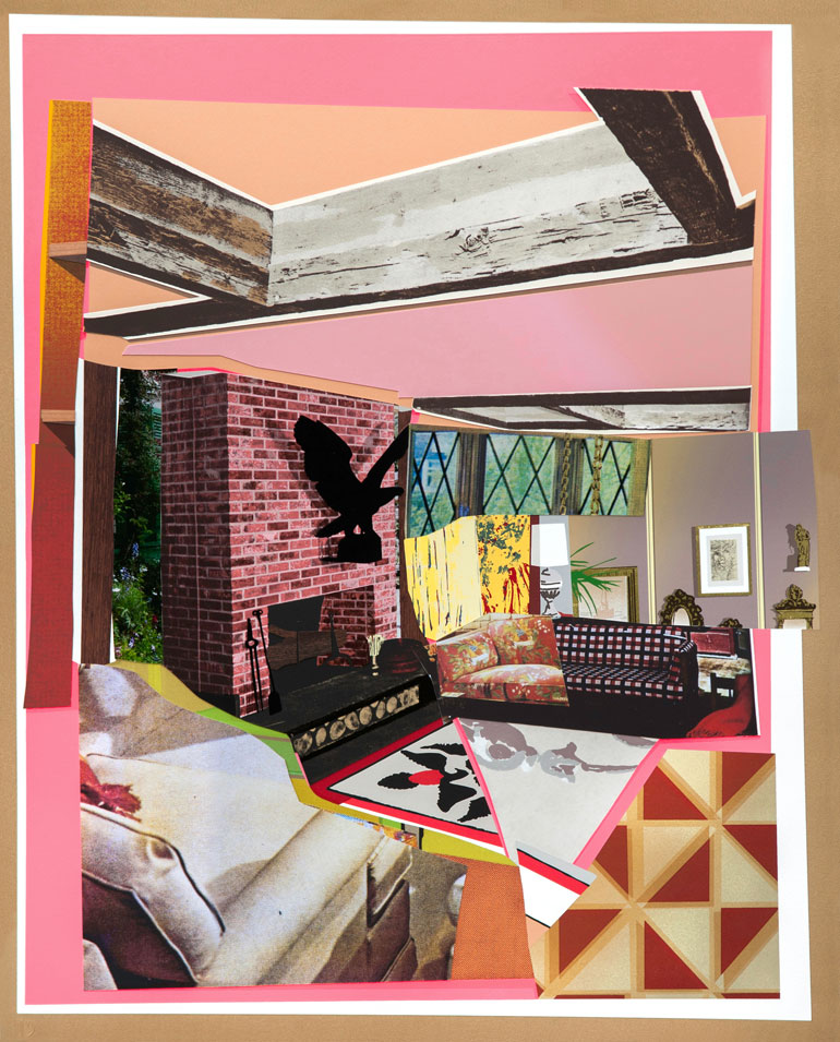 Interior: Fireplace With Blackbird, Mickalene Thomas. Photography Courtesy  Of The Artist And Durham Press.