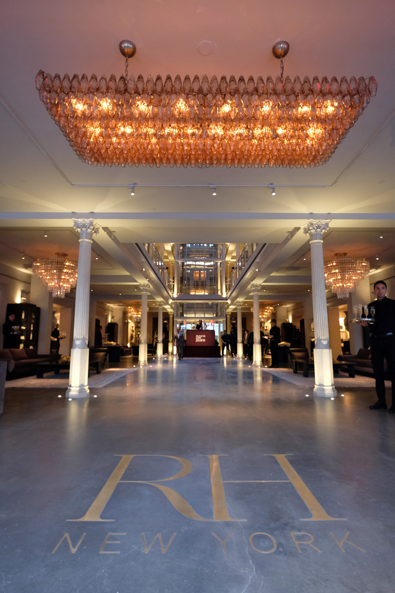 The Cavernous Lobby At RH New York. Photography Courtesy Of Getty Images.