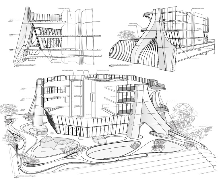exclusive drawings of zaha hadid u0026 39 s one thousand museum