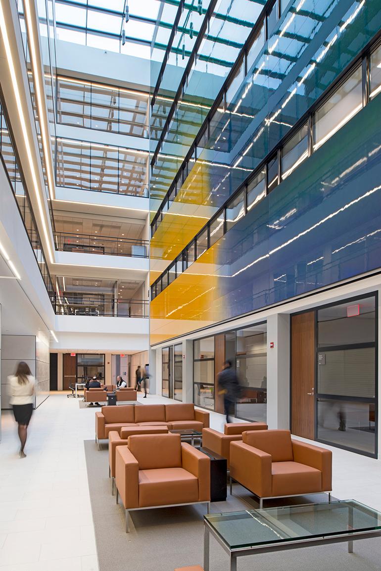 mosa enlivens university buildings with sleek porcelain tile