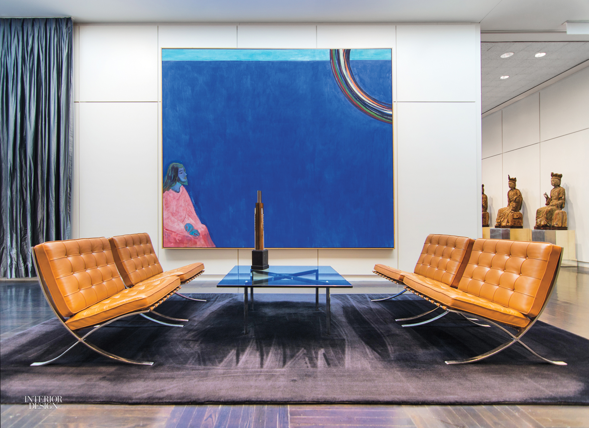 In The Current Reception Area Mies Furniture Gathers Beneath A Peter Doig Painting Distemper On Gesso Photography By Eric Allix Rogers