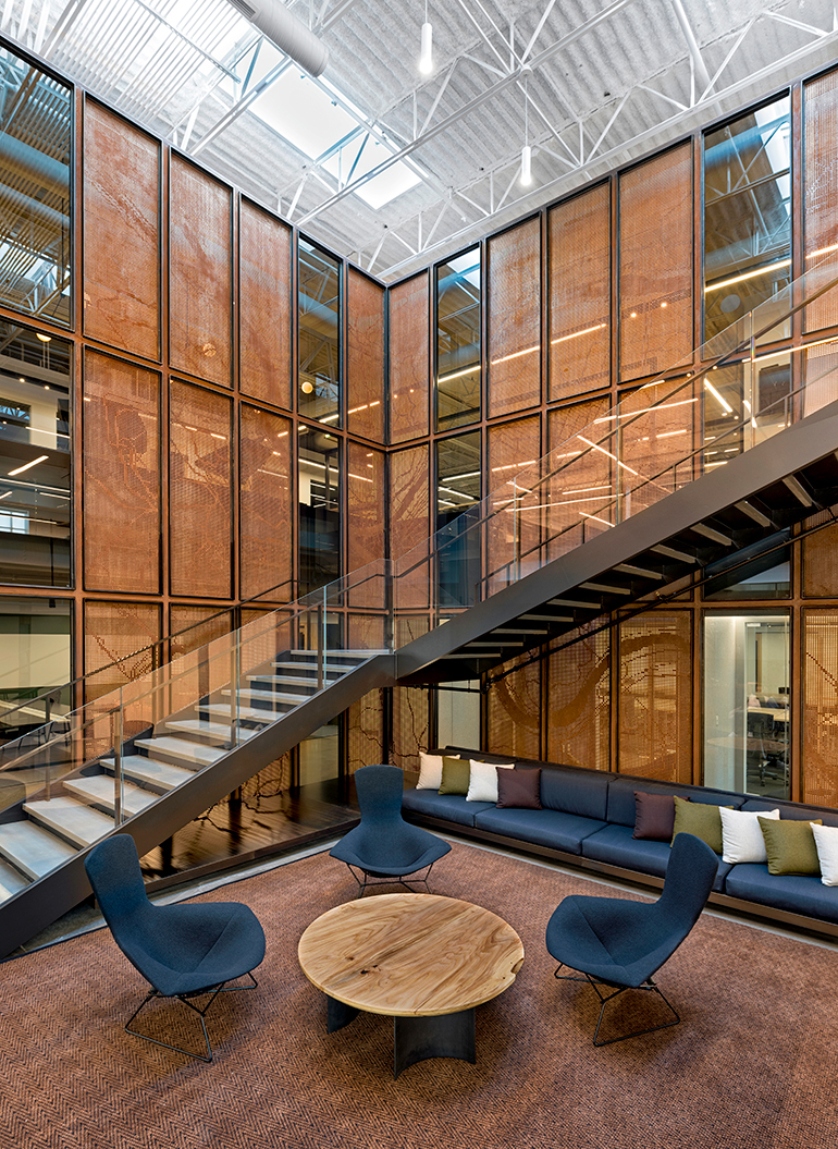 uber office design studio. Open Collaboration Area, With Cor-Ten Steel Panels Depicting The Map Of Pittsburgh, At Uber\u0027s Advanced Technologies Group Office By Assembly Design Studio. Uber Studio