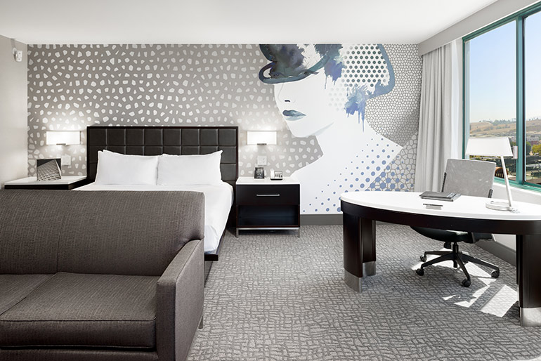 When Stanford Hotels Renovated The Hilton Woodland Hills In California They Turned To Asteks House Design Studio Who Created Custom Artwork Unobscured