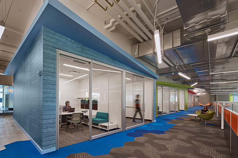 The Marketing Agencyu0027s New El Segundo, California Office Features A Custom  Color Of Asteku0027s Melrose Pattern From The Surface Collection, Digitally  Printed ...