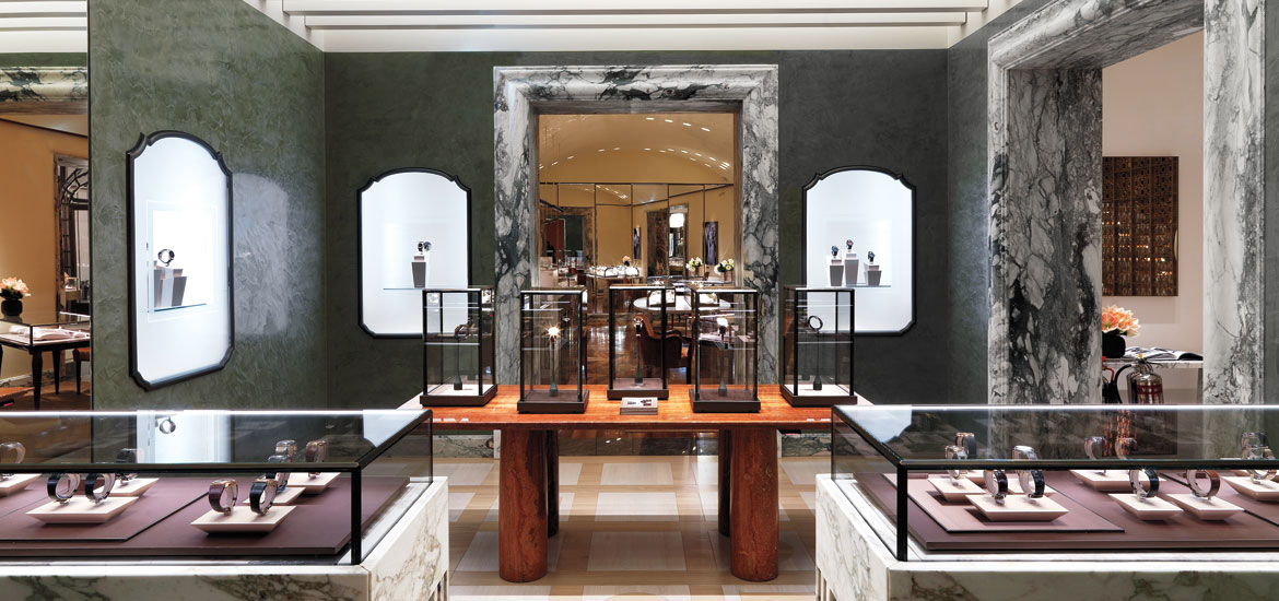 Peter marino burnishes the bulgari legend in london Interior design stores london