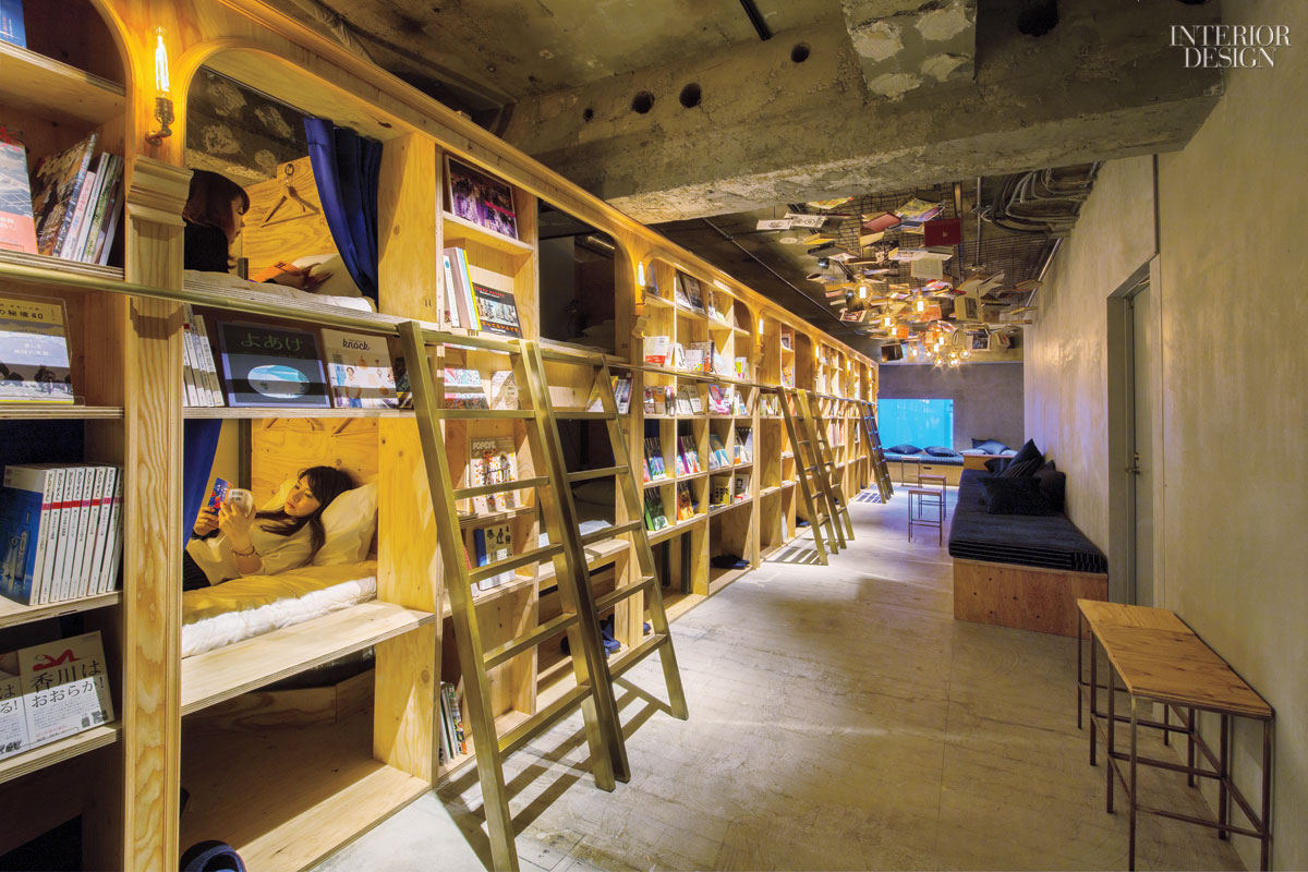 A Tokyo Hostel Surrounds Bunk Beds with Plywood Shelves ...