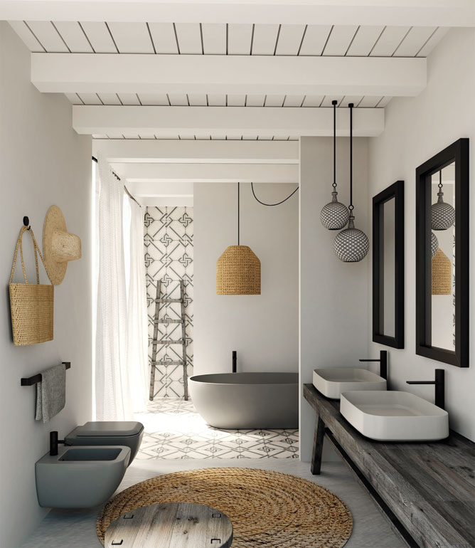 Ceramica cielo builds on the success of its shui bath - Revetement mural pour salle de bain humide ...
