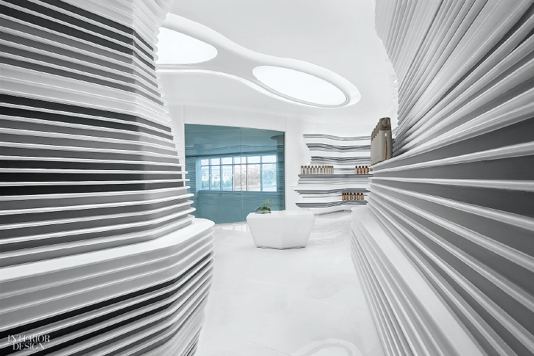 Design In Line : Pinkah new products exhibition hall by daosheng design best