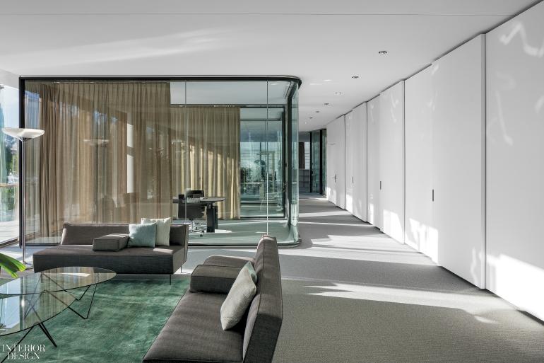 office room interior design. Greta Magnusson Grossman Sofas Flank A Francisco Juan Barba Corsini Table In Lounge. Photography By Leonardo Finotti. Office Room Interior Design