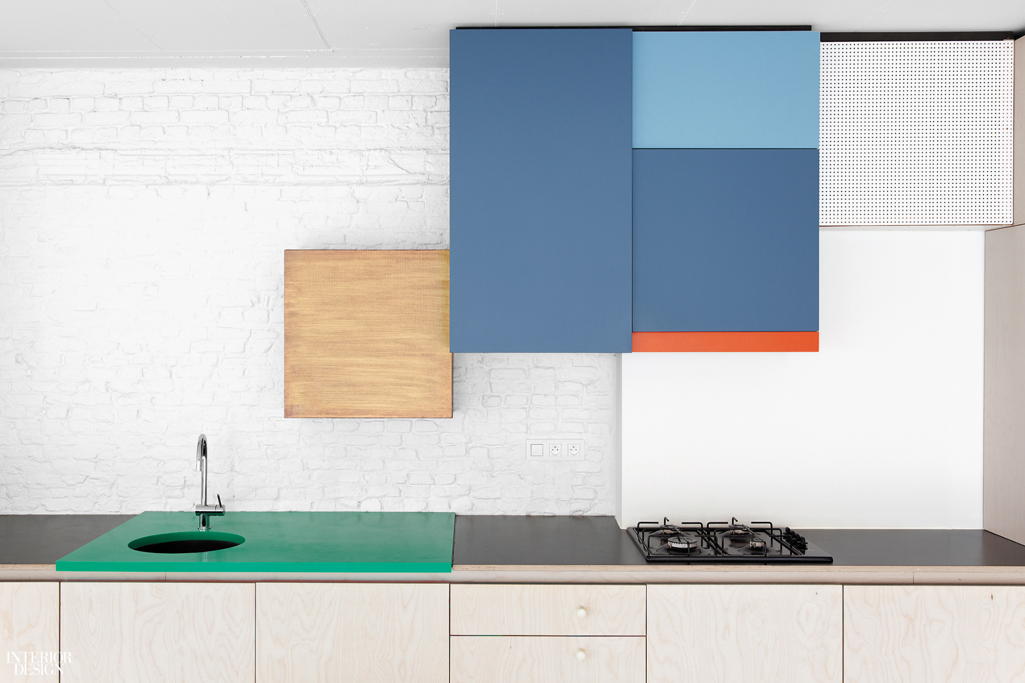 Dries Otten\'s Colorful Kitchens Evoke Abstract Canvases