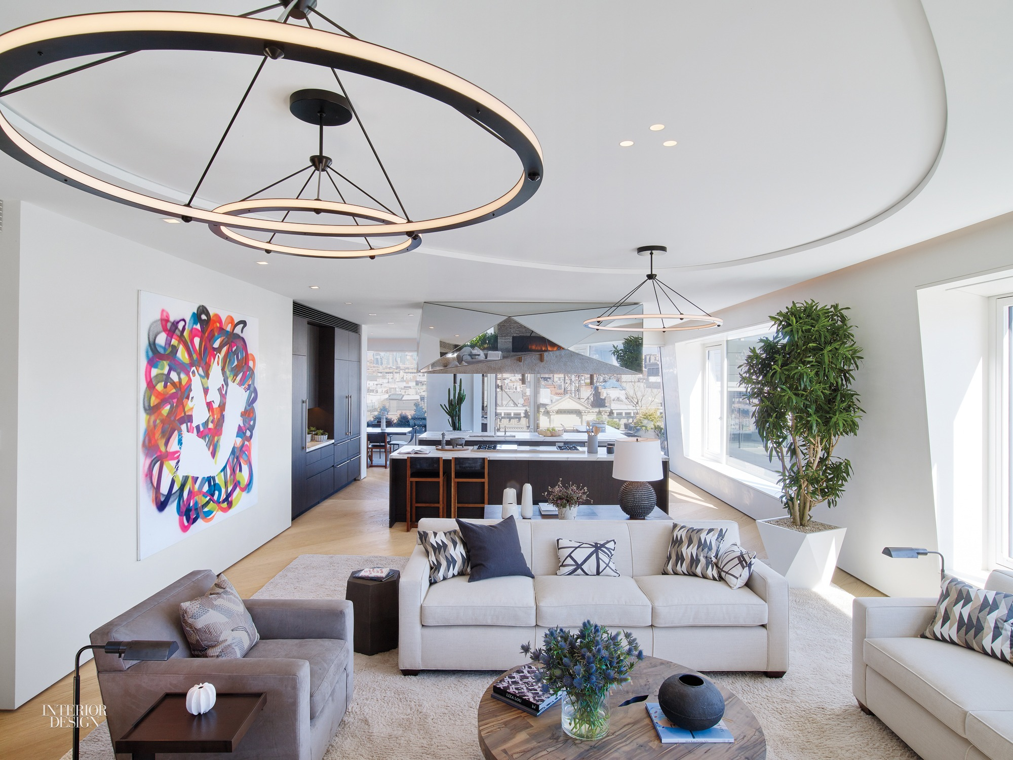 Duplex NYC Penthouse by Dufner Heighes Is Refreshingly Livable