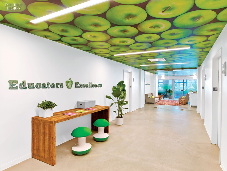Bright Green Apple Logo Kati Curtis Design Decided To Make The Color Element That Threads Their Entire New York City Office Together