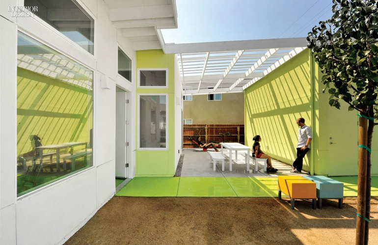 lehrer architects office design. Paint For The Exterior And Interior Was Color-matched. Firm: Lehrer Architects. Project: Affordable-housing Prototype. Location: Los Angeles. Architects Office Design