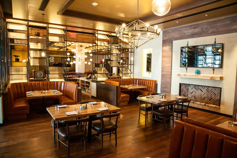 warm comforting elements at hamilton kitchen bar inspired by the location and historical elements of pennsylvania the hamilton in allentown - Hamilton Kitchen