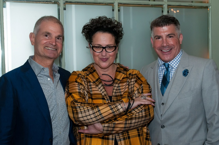 Interior Design President Mark Strauss Editor In Chief Cindy Allen And Mad Men Actor Bryan Batt Photography By Kevin Newsome