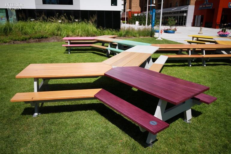 Outdoor Studies Mark Reigelman II Designs A Huge Picnic Table In - Huge picnic table